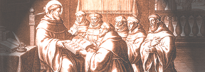 Augustine Giving his Rule (Bolswert, 1624)