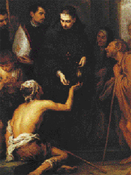 The Charity of Saint Thomas of Villanova by Bartolomé Esteban Murillo, Wallace Collection, London. Originally painted for the Capuchin monastery of Genoa, Italy.
